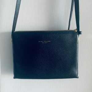 NEW Marc Jacobs Black Leather Crossbody Purse bag